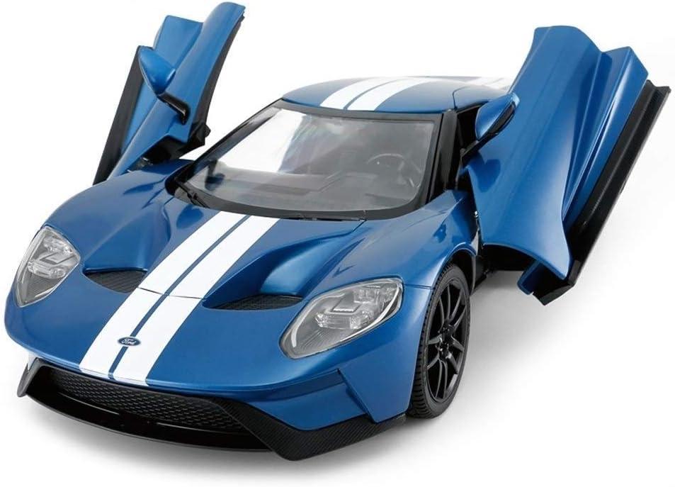 Pkjskh Coche teledirigido recargable Modelo de juguete de regalo 2.4Ghz control de radio del coche de deportes del juguete de la puerta doble de deriva for Autos Deportivos (azul)