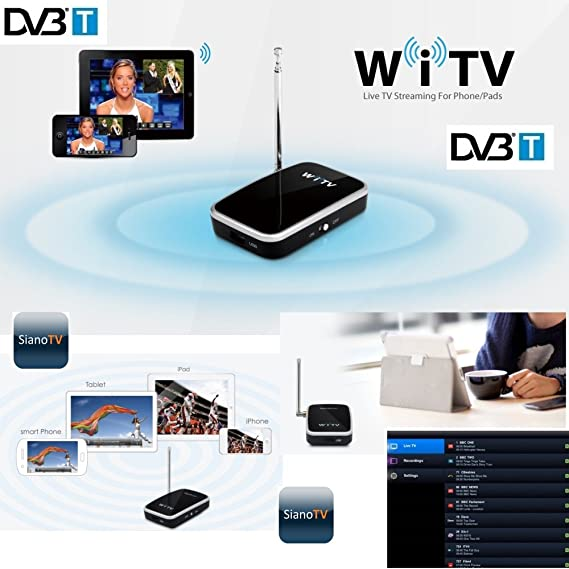 Wifi TV DVB-T witv decodificador receptor digital terrestre Wi-Fi ...