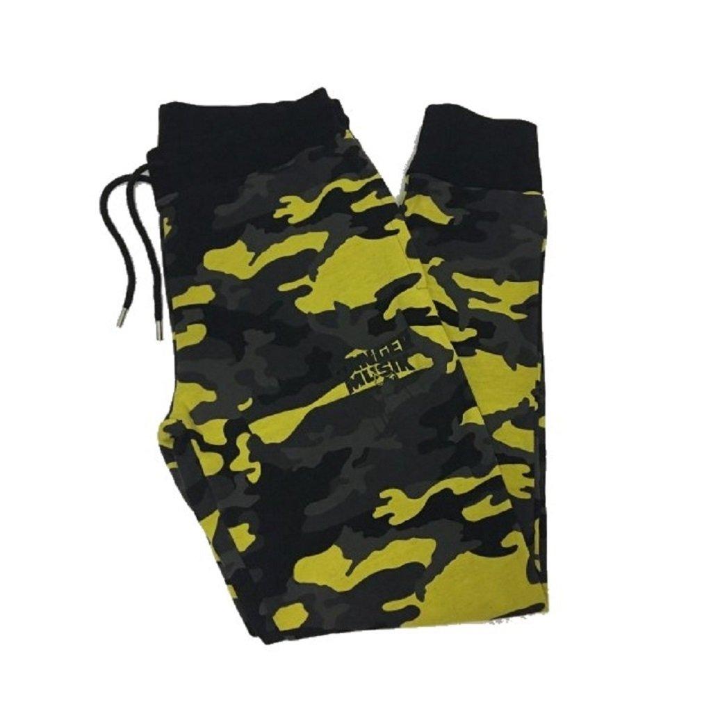 Banger Musik Hose Gelb camouflage