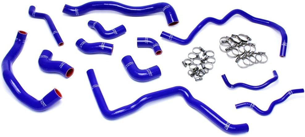 HPS 57-1476-RED Red Silicone Radiator Hose Kit Coolant 1 Pack