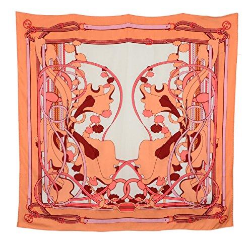 Gucci Square Scarf Saddlery Logo Print Silk Twill Foulard