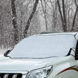 Cosyzone Windshield Snow Ice Cover Winter Frost Cover for Car Wind-Proof Magnetic Edge Keeps Ice Snow Frost Off Fits Most Vehicle