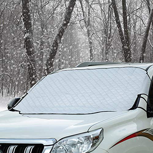 Cosyzone Windshield Snow Ice Cover with Magnetic Wind Proof Wiper Protector Keeps Car Ice & Snow Off...