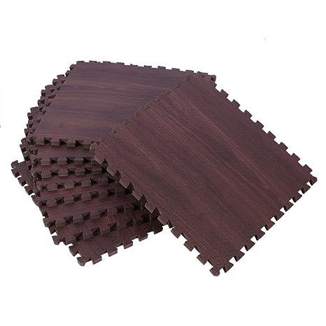 Amazon Eva Wood Grain Cushioned Floor Mat Interlocking Foam