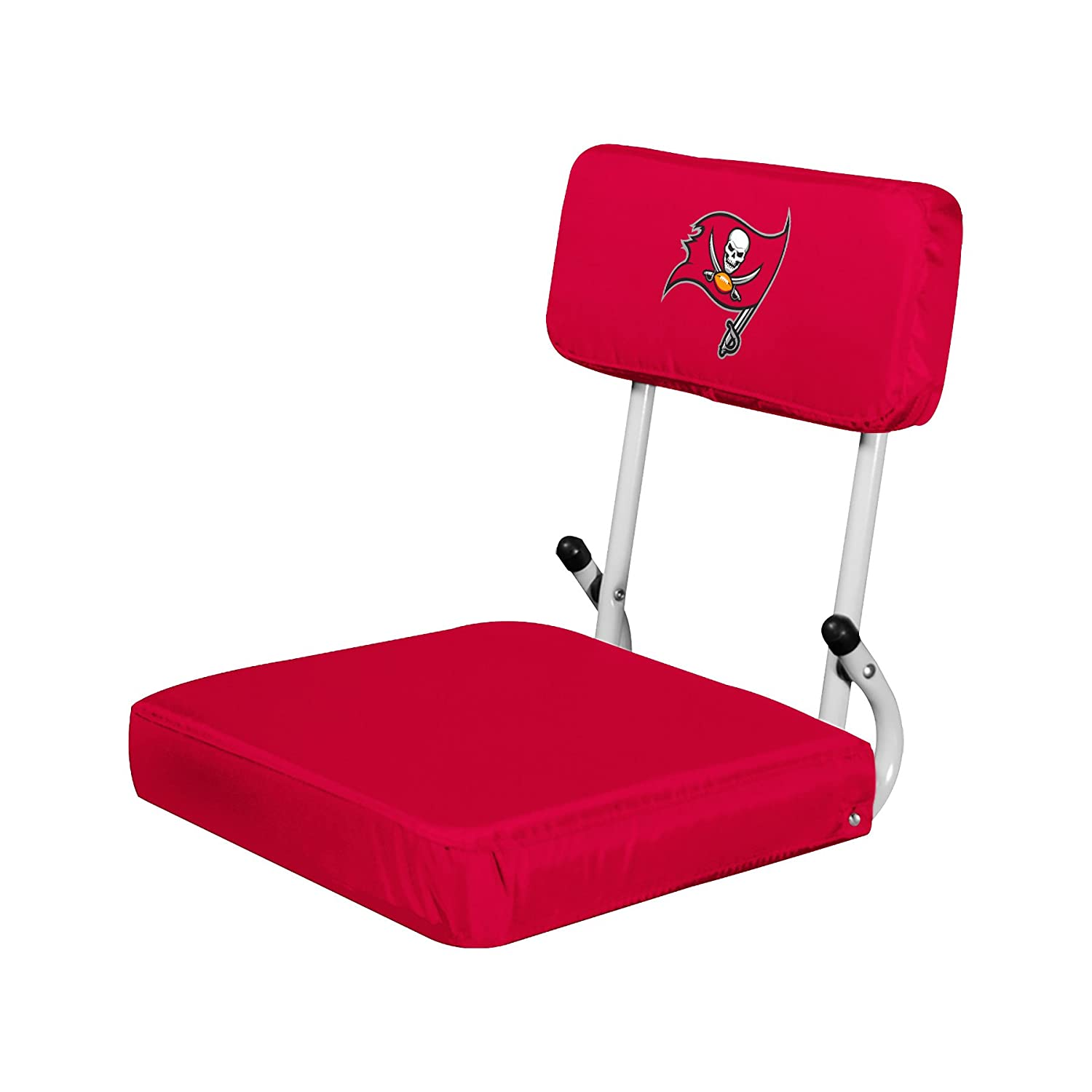 (Tampa Bay Buccaneers, One Size) - NFL Collapsible Hardback Portable Seat with Metal Bleacher Attachment   B06W53C7RS