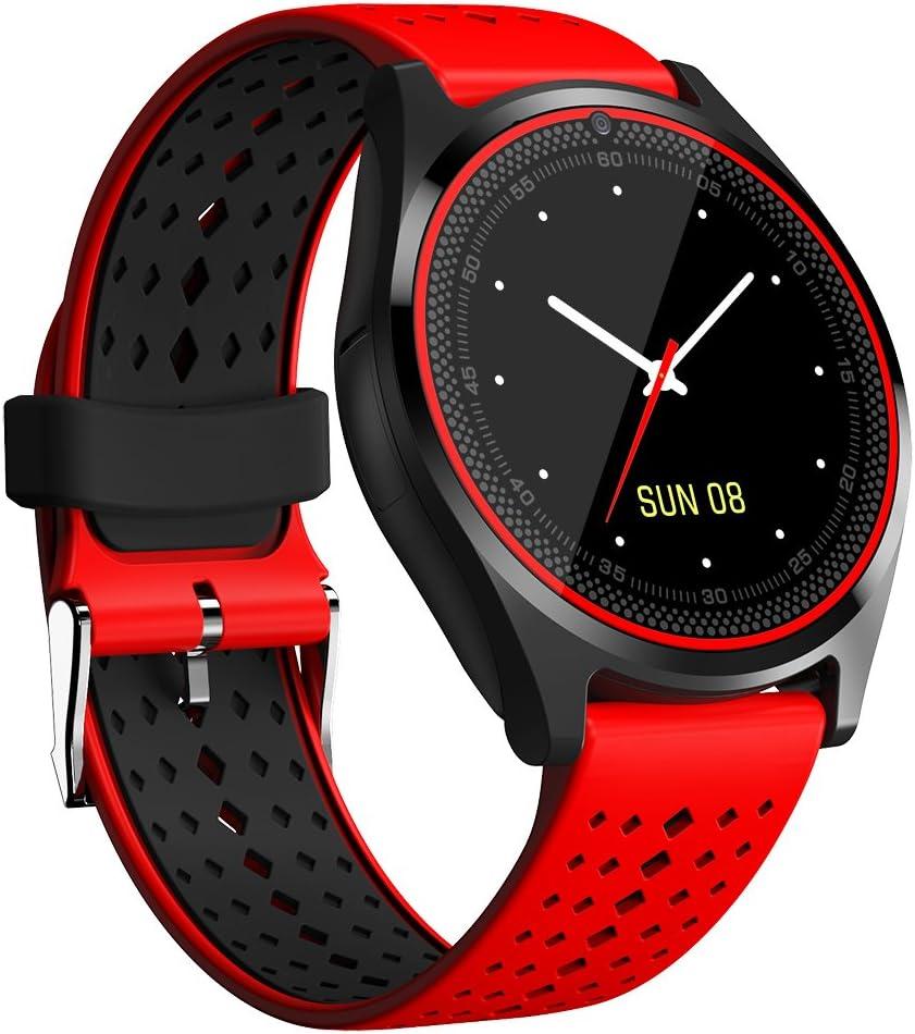SmartWatch bluetooth touch screen, Activity Tracker Reloj Inteligente Podómetro cámara a distancia vivovace Reloj Teléfono notificaciones llamadas/SMS y WhatsApp pulsera para Andriod IOS V9