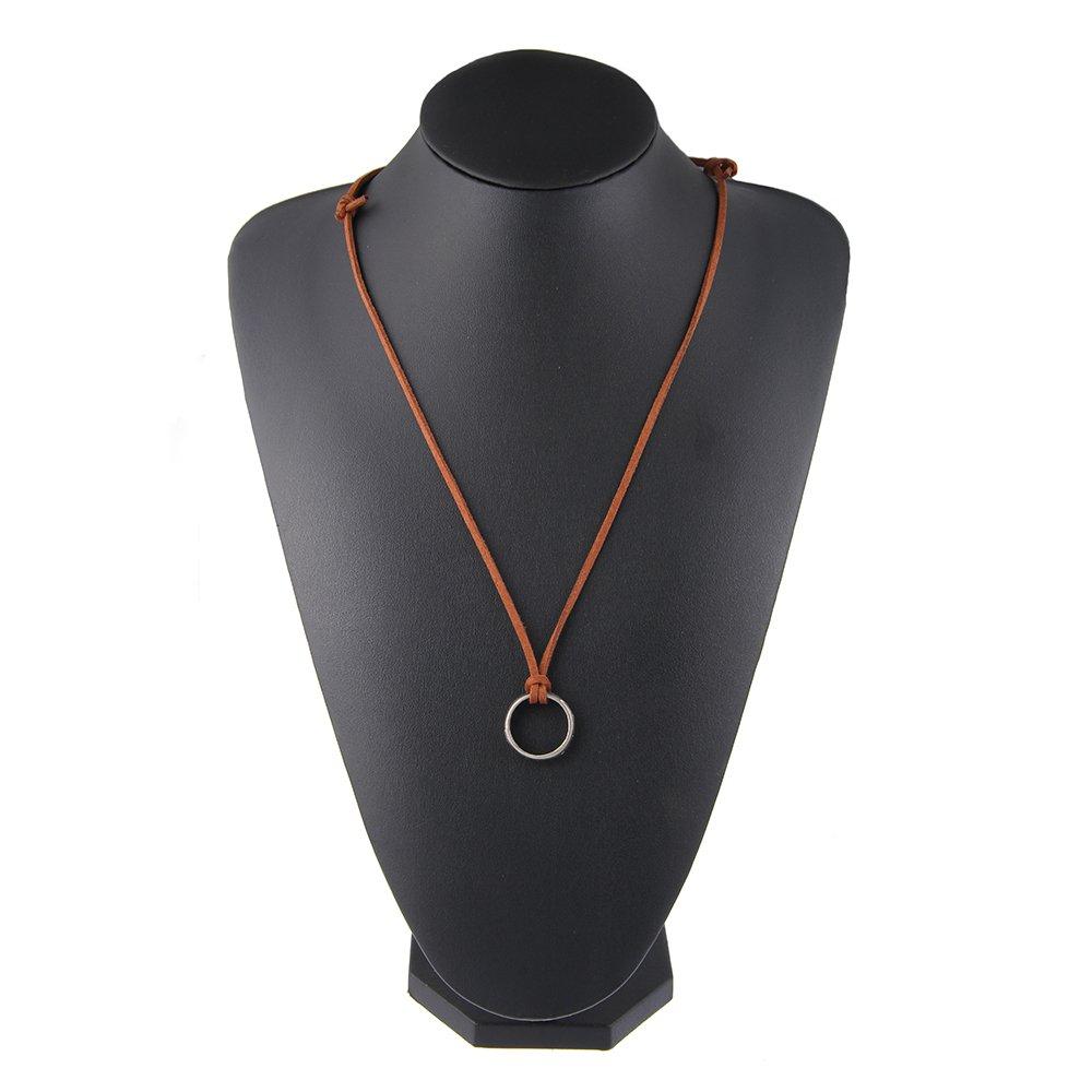 LUREME Vendimia Joyería Uncharted Drake Engraved Anillo Pendant Collar (nl005624)