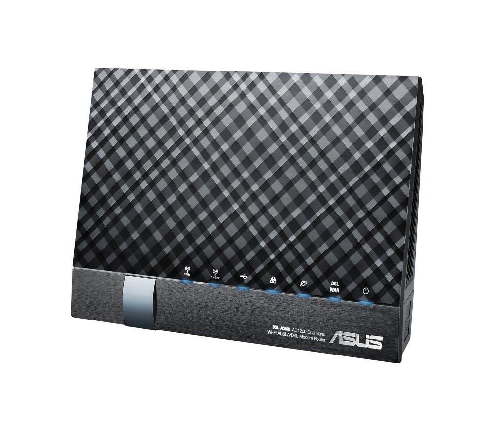 Asus DSL-AC56U AC1200 WLAN-Modemrouter schwarz: Amazon.de: Computer ...
