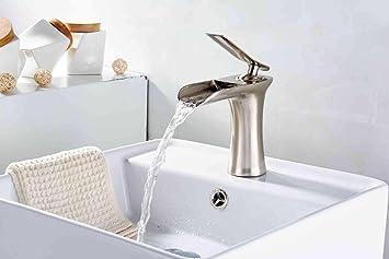 Xie Full Copper gebürstet Badezimmer Wasserhahn Zeichnen Waschbecken ...
