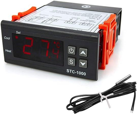 Digital 110V-220V//AC STC-1000 Contrôleur de Température Thermostat Aquarium Capteur