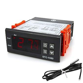 COVVY STC-1000 - Termostato digital de temperatura (110 a 220 V ...
