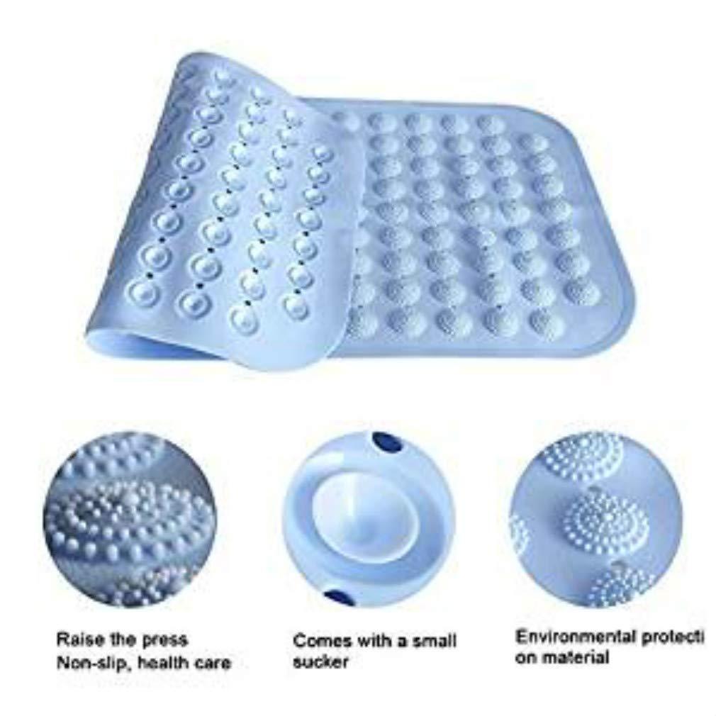 MIRUIKE PVC tappetini per doccia in gomma antiscivolo, Protezione ambientale bagno cuscinetti antiscivolo ventose, PVC, Light Blue, 12x30in(31x76cm)