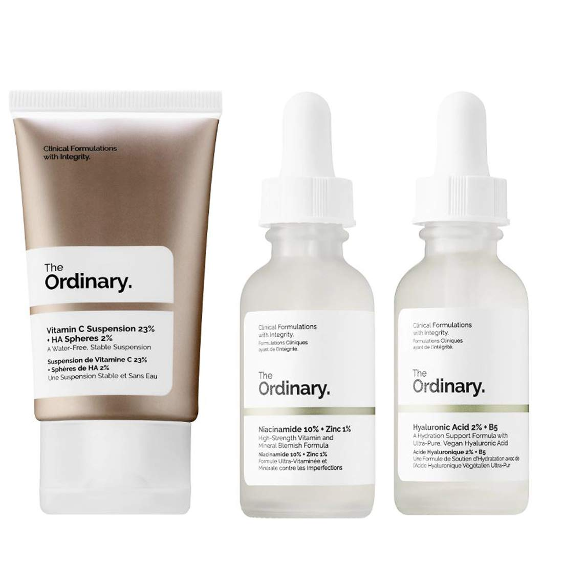 The Ordinary Facial Treatment Set! Includes Vitamin C Cream, Hyaluronic Acid Serum and Niacinamide Serum! Brightens, Hydrates And Reduces Skin Blemishes! Vegan, Paraben Free & Cruelty Free!