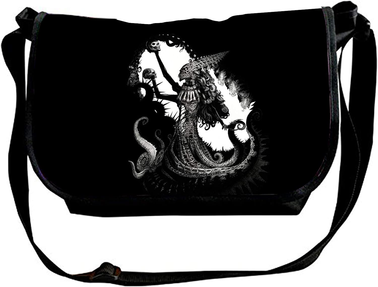 Dark Creepy Custom High-grade Nylon Single/ Shoulder Slant/ Sling/ Bag Cross-body Bag