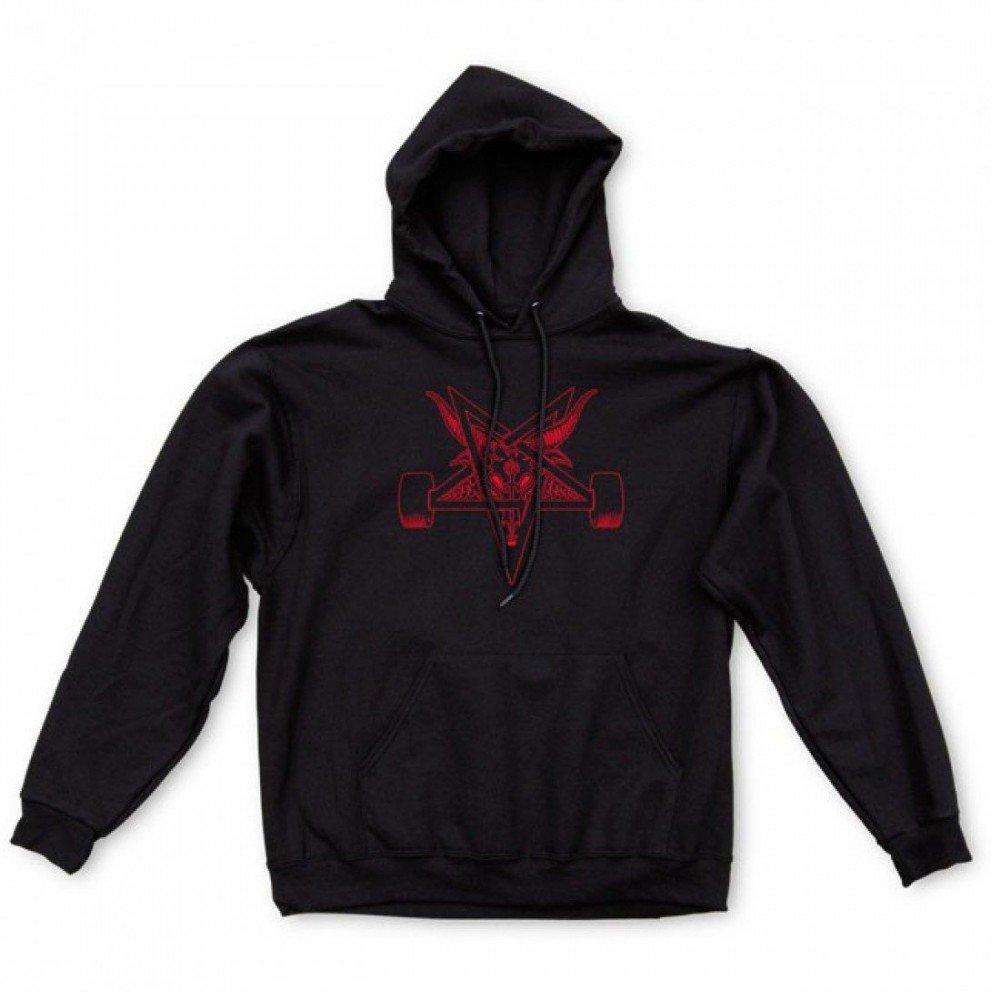 Thrasher schwarzout Pullover Hood schwarz ROT