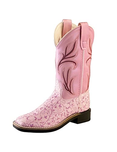 786ba4e61b2 Old West Kids Boots Girl's Leatherette Western Boots (Toddler/Little Kid)
