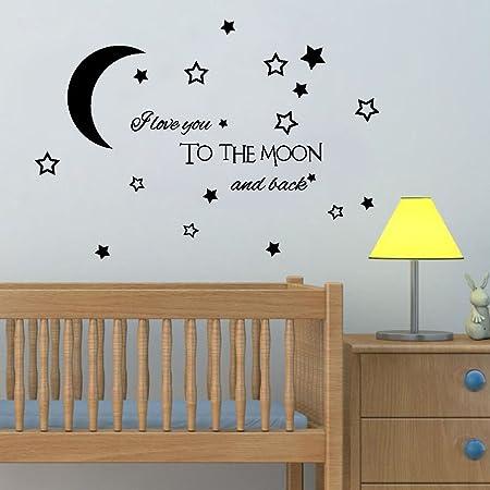 mode de vente chaude prix favorable disponible Homebaby Stickers Muraux--Lune Stickers Muraux Star Sticker ...