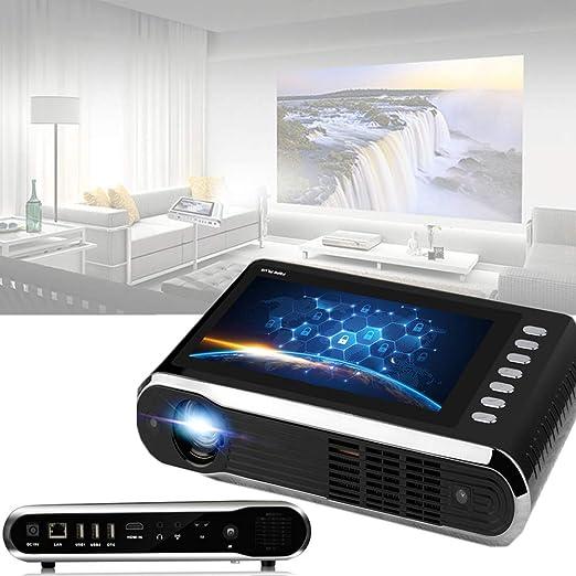4k Proyector, Pantalla Táctil, WiFi Doble Banda Bluetooth Misma ...