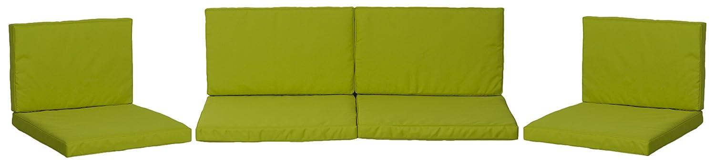BEO Lounge cuscino ricambio per gruppi di Monaco Set sostituzione cuscino impermeabile Set con 8, spessore 5cm, verde chiaro 4014119454094