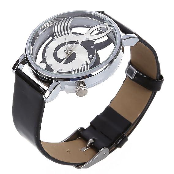 Reloj de pulsera de cuarzo de cuero sintetico - SODIAL(R)Reloj de pulsera