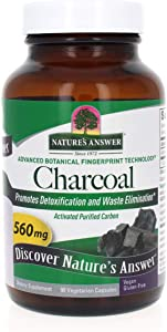 Nature's Answer Activated Charcoal Vegetarian Capsules | Naturally Promotes Detoxification & Waste Elimination | Vegan, Gluten-Free, Alcohol-Free & No Preservatives 90ct.
