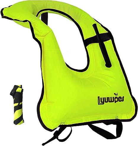 Amazon.com: Lyuwpes - Chaleco de snorkel inflable para ...