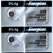 2PC Energizer 319 SR527SW Silver Oxide Battery