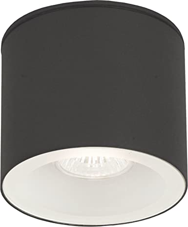 Lámpara de techo exterior techo foco gris oscuro GU10 IP44 ...