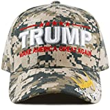 THE HAT DEPOT Exclusive 45th President Make America Great Again 3D Signature Cap (Digi Camo)