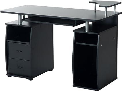 Mesa de Ordenador Escritorio de Oficina Mesa de PC Mesa con ...
