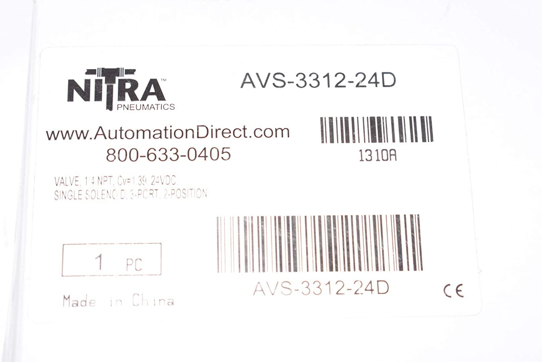 2-Position NEW NITRA Pneumatics AVS-3312-24D Solenoid Valve 1.4 NPT 3-Port