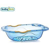 Baby Jem Giderli Desenli Banyo Küveti Şeffaf, Mavi