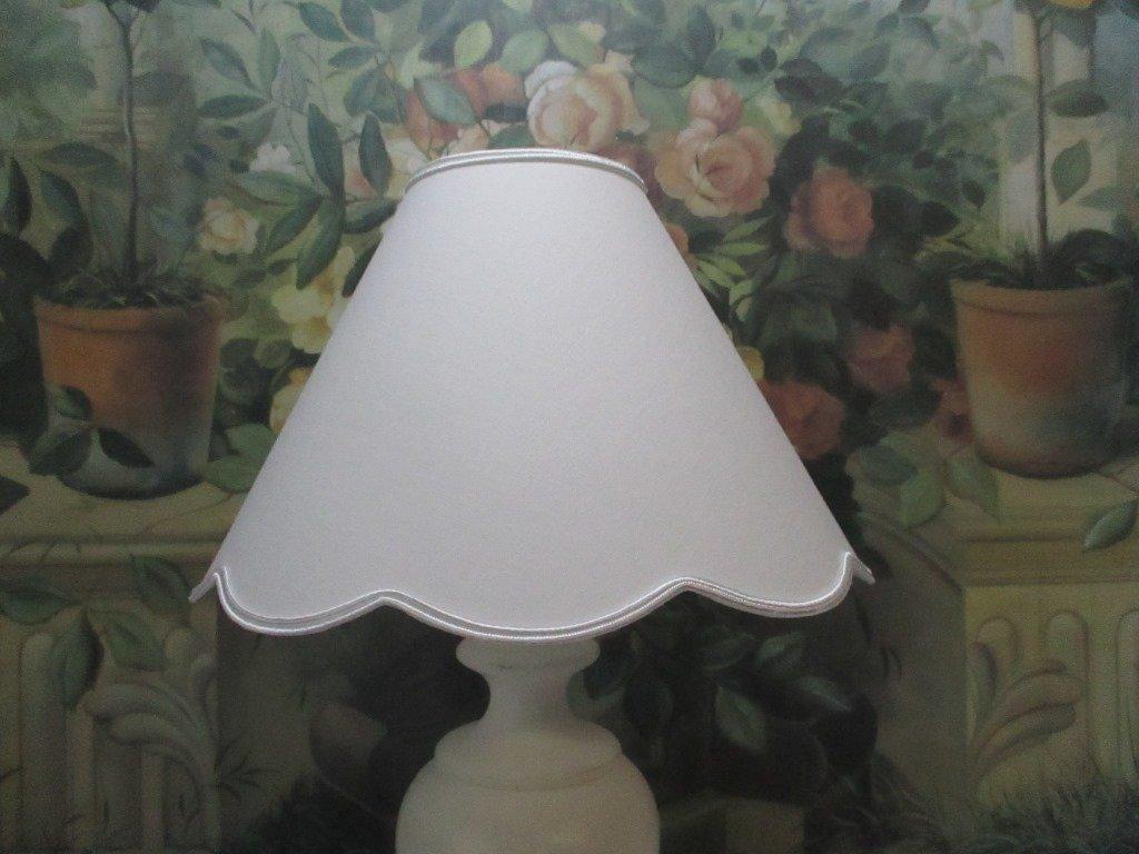 ABAT-JOUR A PINCE - FESTONS DIAM. 20 CM - COULEURS AU CHOIX - POUR PETITE LAMPE