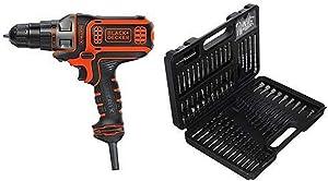 BLACK+DECKER BDEDMT Matrix AC Drill/Driver with BLACK+DECKER BDA91109 Combination Accessory Set, 109-Piece