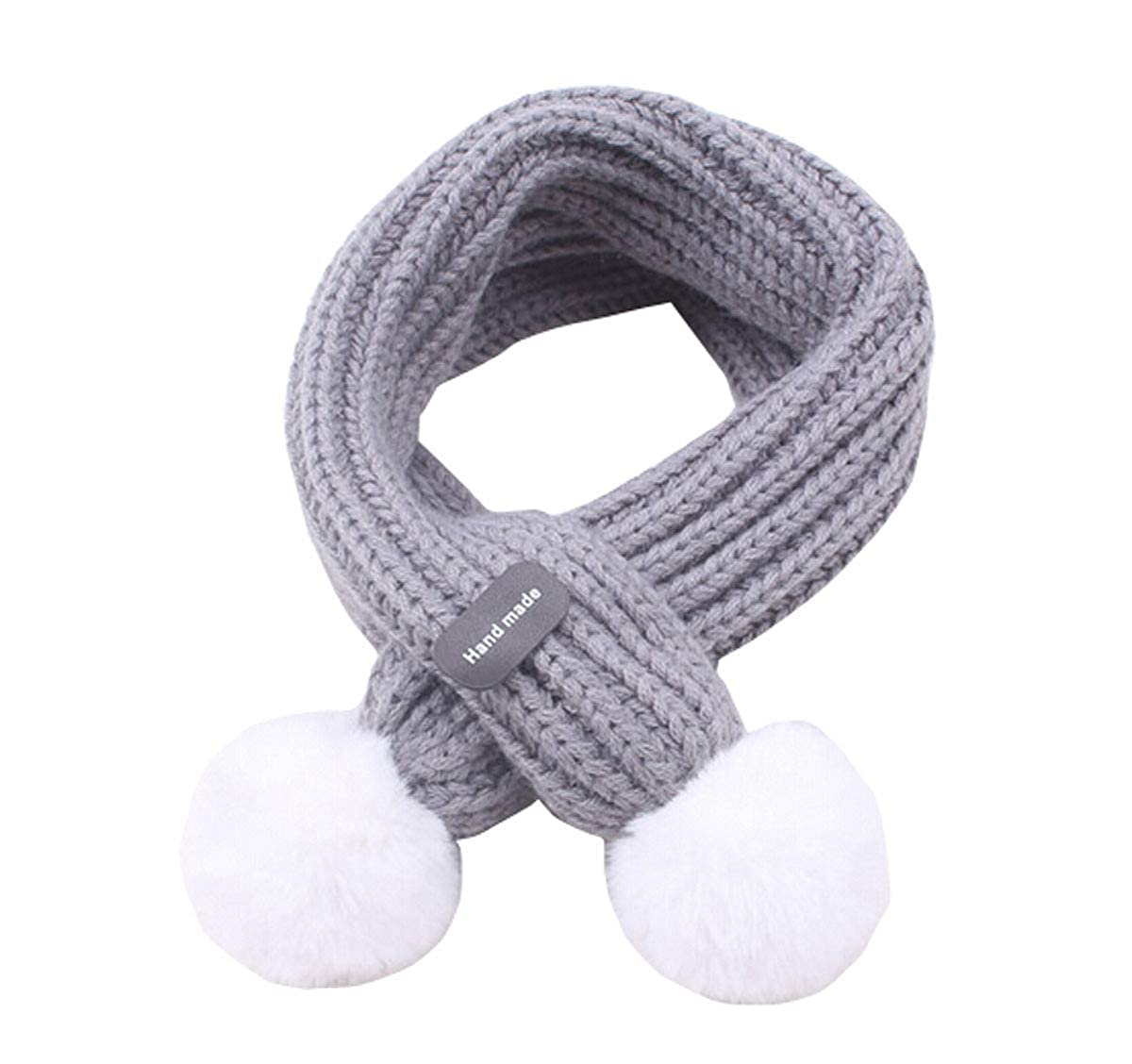 Infant Baby Knitted Scarf with Pom Warm Scarf Winter Autumn Soft Shawl 100-135CM