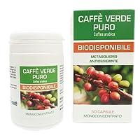 Caffe Verde Puro Naturfarma 50 Vegan capsule da 500 mg di Estratto Secco Titolato al 45% in Acido Clorogenico | integratore naturale che contribuisce a favorire un'azione di sostegno metabolico | Senza Glutine Senza Lattosio Vegan Approved e capsule in gel vegetale