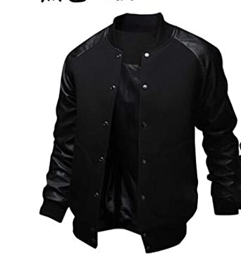 Amazon Com Cool College Baseball Jacket Men 2018 Fashion Design