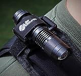 Life Mounts LED Tactical/Hunting Vest and Backpack Light with Strap Mount - Shoulder Mounted Safety Lighting (Black)