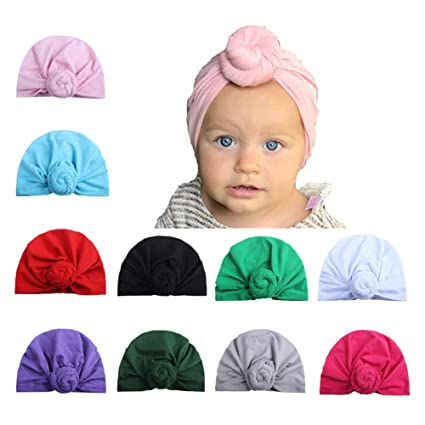 Image Unavailable. Image not available for. Color  10 Pcs Baby Girl Hats  Headband ... 6baa5857545