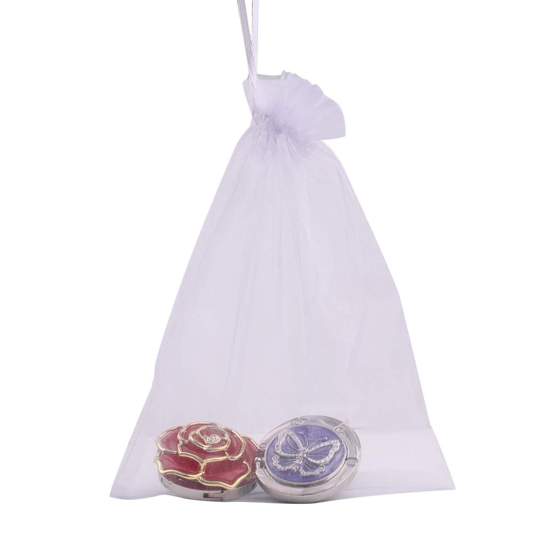 ANSUG Geldb/örse Haken Folding Handtasche Tischaufh/änger f/ür Frauen Tasche Lagerung 3 Pack Handtasche Folding Kleiderb/ügel