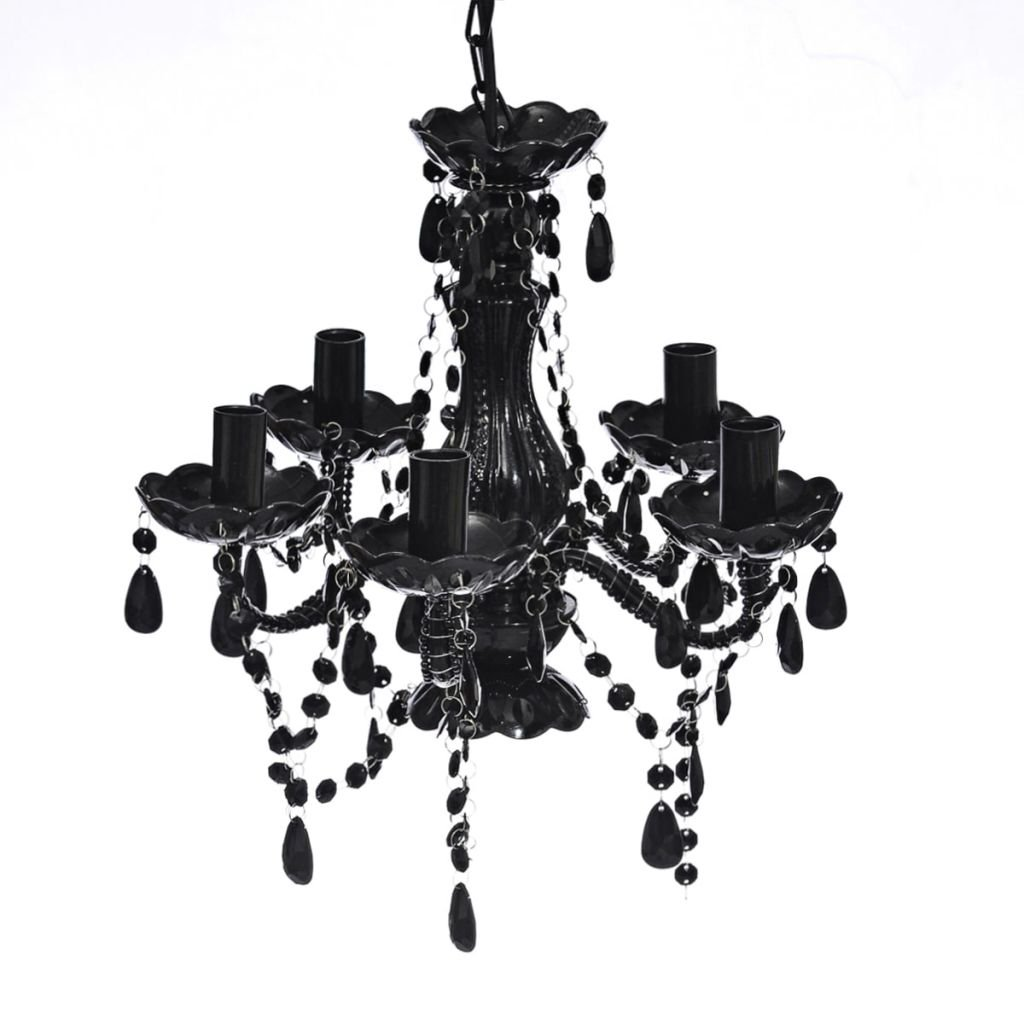 vidaXL Lustre en cristal noir 14056