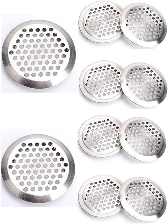 2 Inch Stainless Steel Air Vent Louver Round Vent Mesh Hole Soffit Vent For Kitchen Bathroom Wardrobe And Shoe Cabinet Pack Of 10 Amazon Co Uk Diy Tools