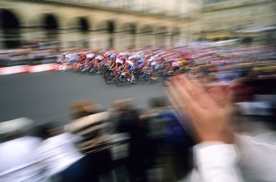 Tour de France, Photography, Paris, Rue de Rivoli, finish, crowd, cheering, blurred, hands, clapping, sport, event, spectators, bicycles, race, Art print, Wall Art, Gift, Decor, Photo