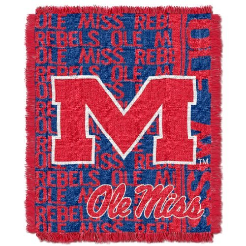 - The Northwest Company Officially Licensed NCAA Mississippi Old Miss Rebels Double Play Jacquard Throw Blanket, 48