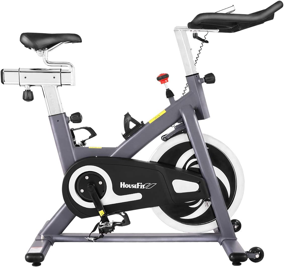 HouseFit Indoor Cycling Stationary Exercise Bike - Cycle Bike with magnetic control Adjustable Resistance and LCD Monitor Comfortable Seat Cushion 40 Lbs Magnetic Resistance