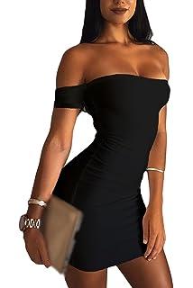 Sevozimda La Mujer Bodycon MIDI Verano Sin Tirantes Vestido De Fiesta Mini Slim