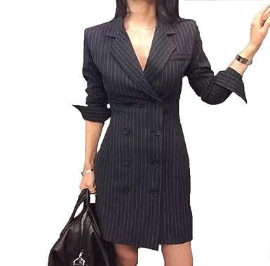 disponibilità nel Regno Unito 51cfc 26e63 Ruth Wang Donna a Righe Doppio Petto OL Lavoro Slim Fit Blazer Vestito