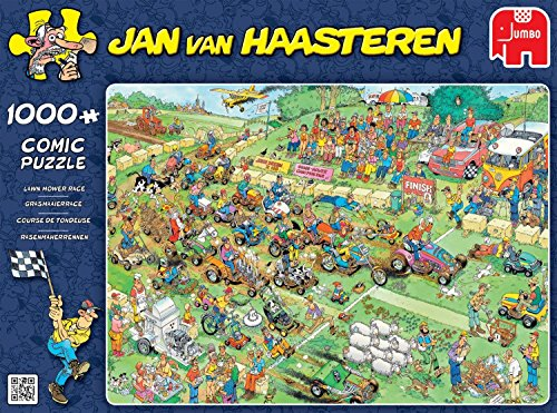 Jan van Haasteren - Lawn Mower Race - 1000 Piece Jigsaw Puzzle