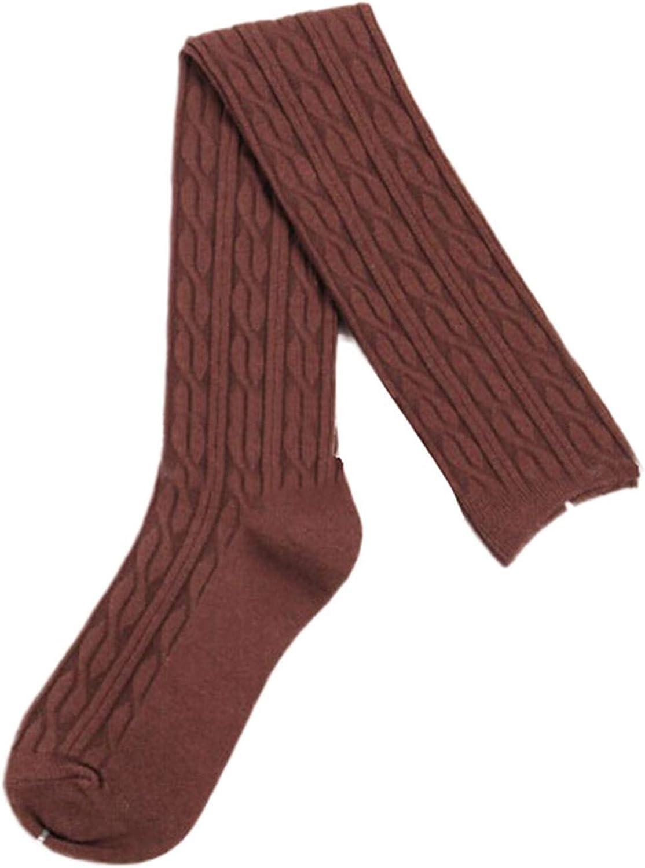 Woman Wool Braid Over Knee Socks Thigh Highs Hose Stockings Twist Warm Winter Autumn Knee Socks