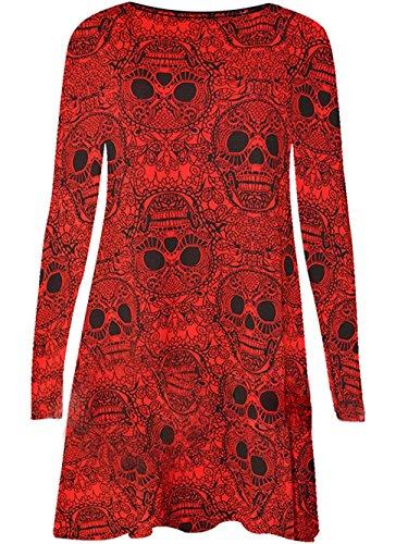 Costumi da Costume Skeleton Rosso